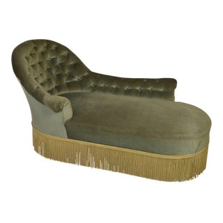 19th Century Tufted Chaise For Sale