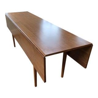 Mid-Century Modern Teak Drop-Leaf Console Table For Sale