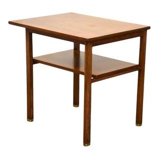 Edward Wormley for Dunbar Walnut End Table For Sale