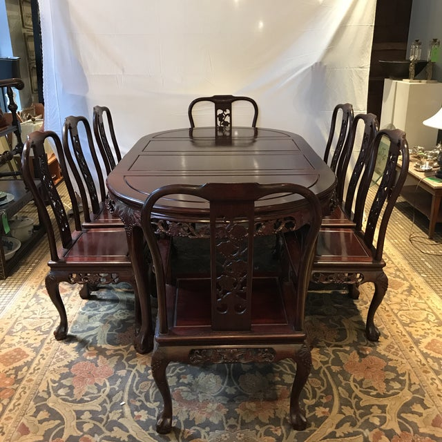 Ling Chi Rosewood Dining Table & 8 Chairs Set - Image 10 of 10