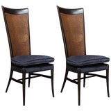 Image of Midcentury Cane Backed Side Chairs For Sale