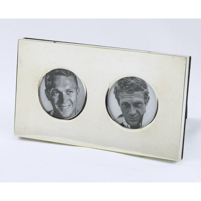 Christian Dior Paris Modernist Silver Plate Picture Photo Frame - Image 3 of 7