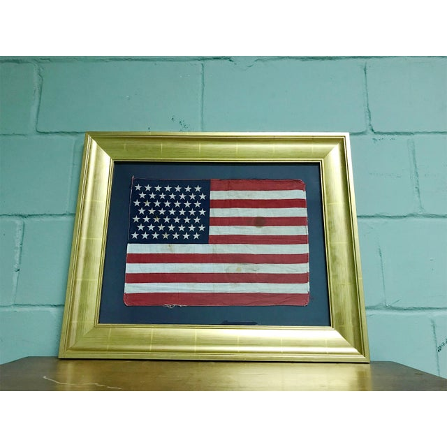 """Extremely rare American Flag in condition consistent with age. Brief History: """"Alaska was admitted to the Union on January..."""