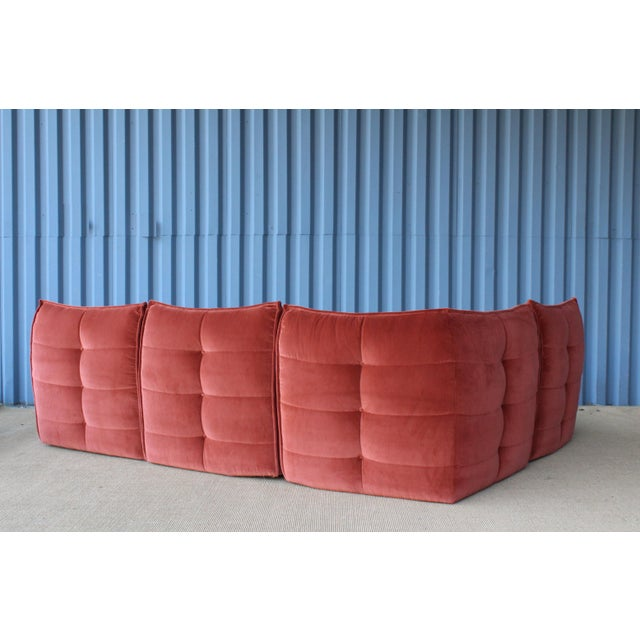 Four-Piece Sectional Sofa, Italy, 1960s For Sale - Image 4 of 12