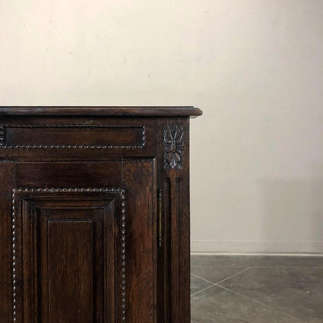 Wood Early 19th Century Country French Louis XVI Oak Buffet For Sale - Image 7 of 13