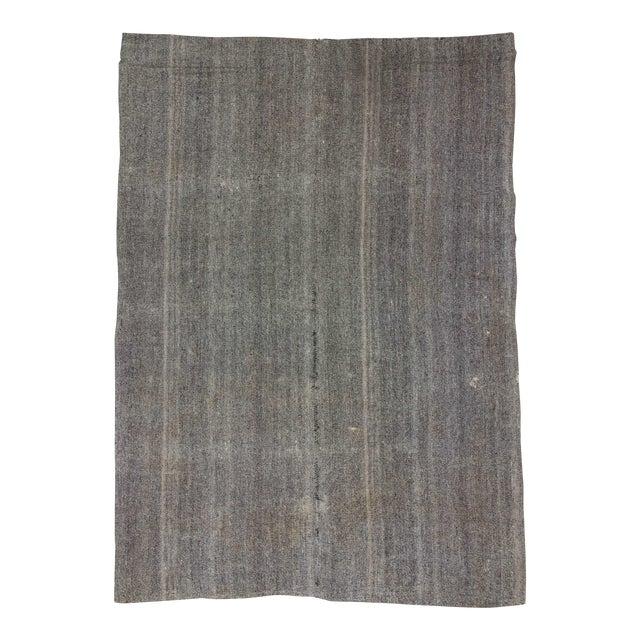 Vintage Turkish Modern Gray Kilim Rug- 8′ × 11′1″ - Image 1 of 6