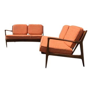 Ib Kofod Larsen for Selig 2 Piece Sectional Sofa For Sale