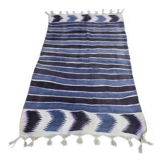 """Antique Flatweave Dhurrie Rug - 2′10"""" X 6′ For Sale"""