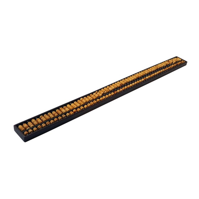 This is a Chinese rosewood material long mini abacus. The natural rosewood color and pattern is very pretty. The abacus...
