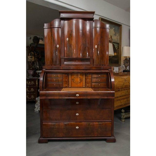19th Century Danish Biedermeier Bureau Secretary Desk - Image 8 of 10