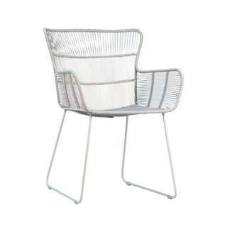 White Rope Outdoor Arm Chair For Sale
