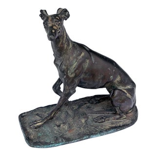 An Expressive and Well-Executed Bronze Greyhound; Possibly by Emmanuel Fremiet (Paris 1824-1910)
