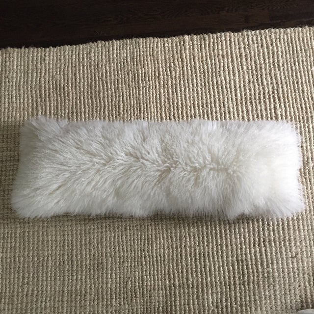 Mongolian Fur Lumbar Pillow - Image 2 of 7