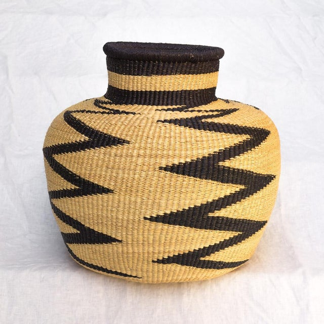 African Handwoven Ghanaian Basket For Sale - Image 3 of 3