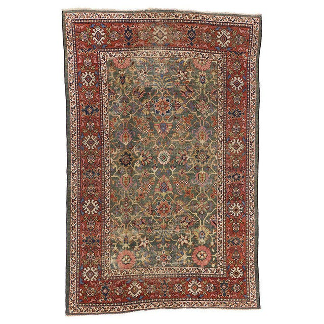Textile Antique Persian Sultanabad with Modern Design For Sale - Image 7 of 7
