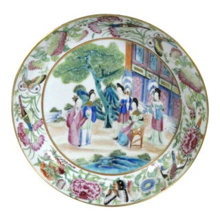 Chinese Rose Mandarin Porcelain Saucer Dish For Sale