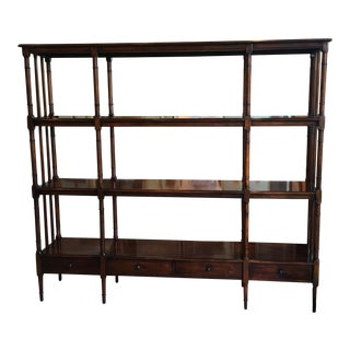 Timeless Mahogany Etagere With Four Accent Drawers