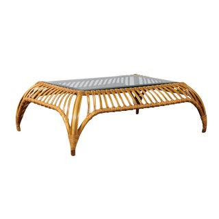 Unique Restored Tiara Coffee Table by Henry Olko for Willow and Reed, circa 1979 For Sale