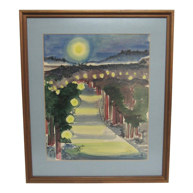 "Frances D. Hoar ""Night Landscape"" For Sale"