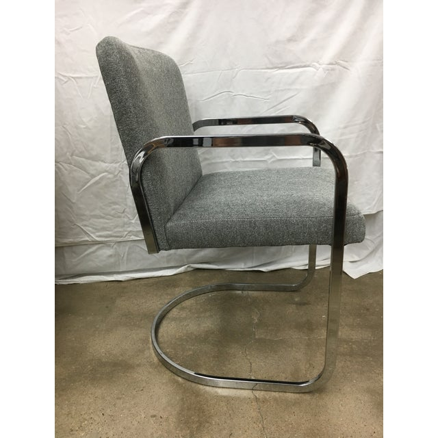 Grey Chrome Chairs - A Pair For Sale - Image 4 of 5