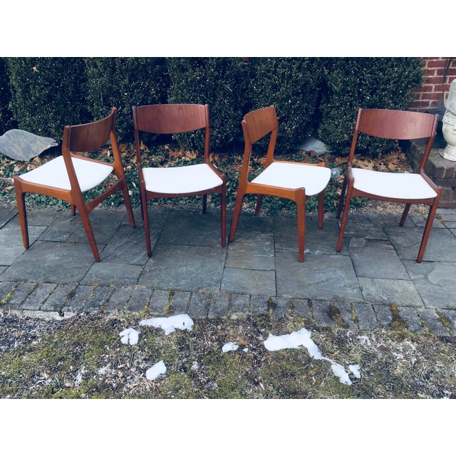 Soro Stole 1960s Vintage Danish Modern Teak Dining Room Chairs- Set of 4 For Sale - Image 4 of 4