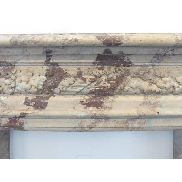 Early 20th Century Turn of the Century Italian Terracotta Faux-Marble Fireplace For Sale - Image 5 of 11