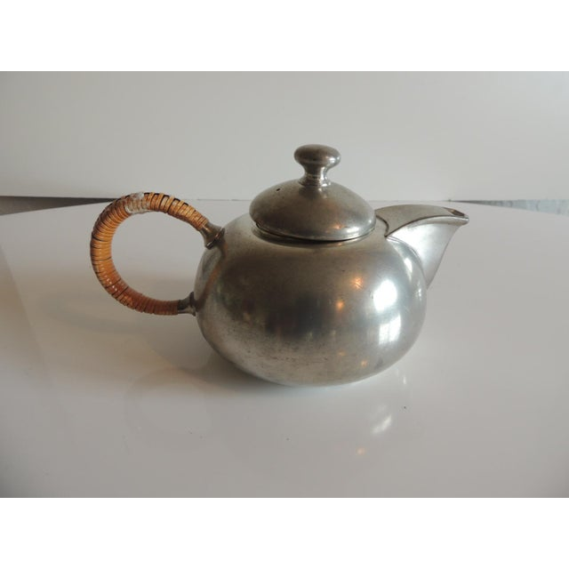 KMD Royal Holland Daalderop Vintage Decorative Pewter Tea Set. For Sale - Image 4 of 10