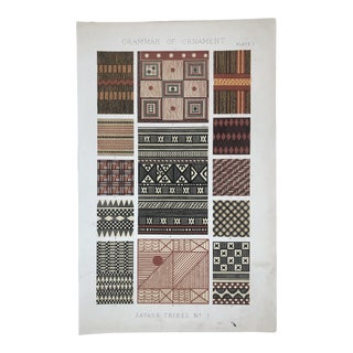 Savage Tribe Designs From Owen Jones Grammar of Ornament For Sale