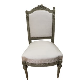 Early 19th Century French Rose Barbola Chair in Pink Silk For Sale