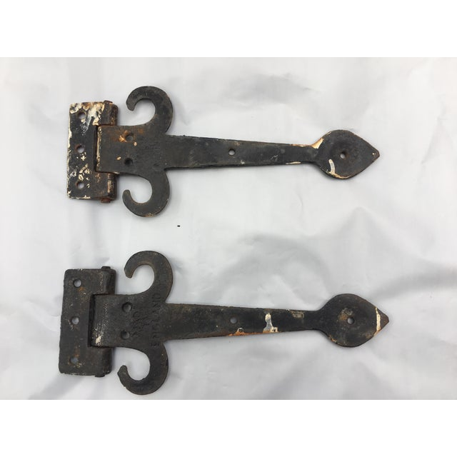 English Cottage Hand Forged Door Hinges - A Pair - Image 5 of 9