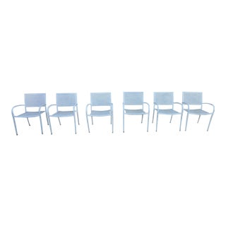 Post Modern Patio Chairs - Set of 6 For Sale
