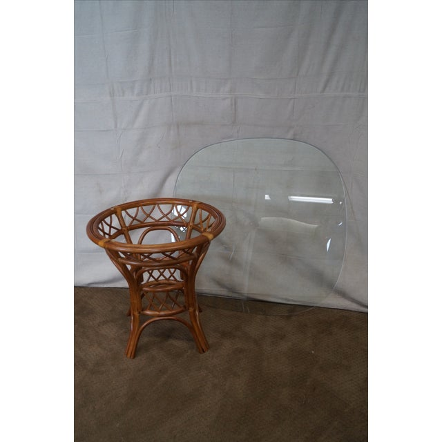 South Sea Rattan Collection Glass Top Dining Set For Sale - Image 10 of 10