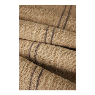 Rustic Grain Sack Homespun Striated Linen Fabric - 1.88 Yards For Sale