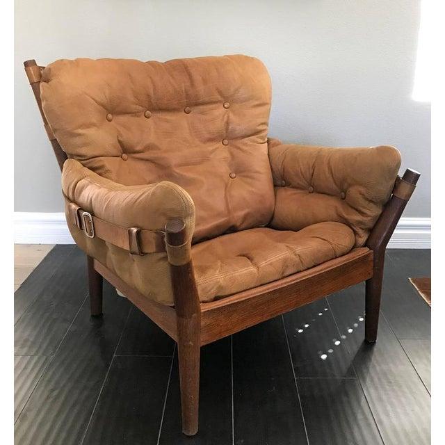 Mid-Century Modern 1960s John Mortensen for Magnus Olesen Model 4521 Lounge Chair For Sale - Image 3 of 10