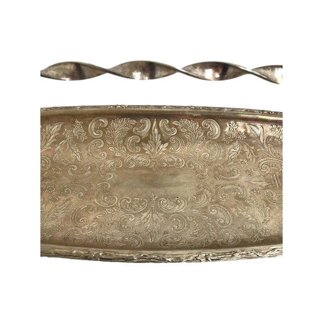 Silver Tray with Carrying Handle - Image 6 of 7