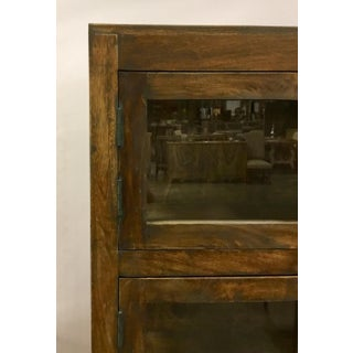 Industrial Modern Wood and Glass Six Door Display Cabinet Preview