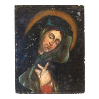 Antique Religious Oil Painting For Sale