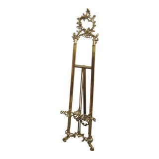 French Rococo Style Brass Easel For Sale