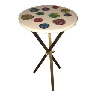 1950's Mid Century Piero Fornasetti Tripod Brass Side Table For Sale