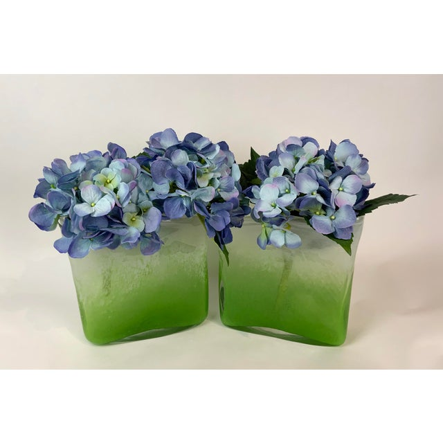 Henry Dean Rectangular Glass Vases - a Pair For Sale - Image 10 of 13