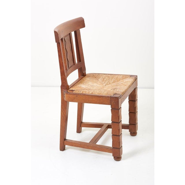 Set of Six Wooden Chairs by Jacques Mottheau, France, 1930s For Sale - Image 9 of 13