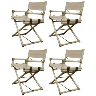 Set of Four Vintage Directors Chairs by Michael Taylor For Sale