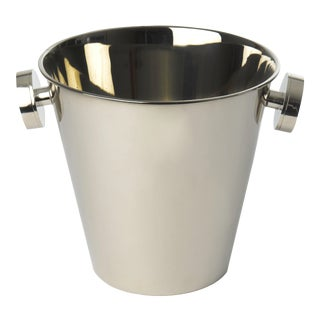 Shiny Nickel Champagne Cooler, Small For Sale