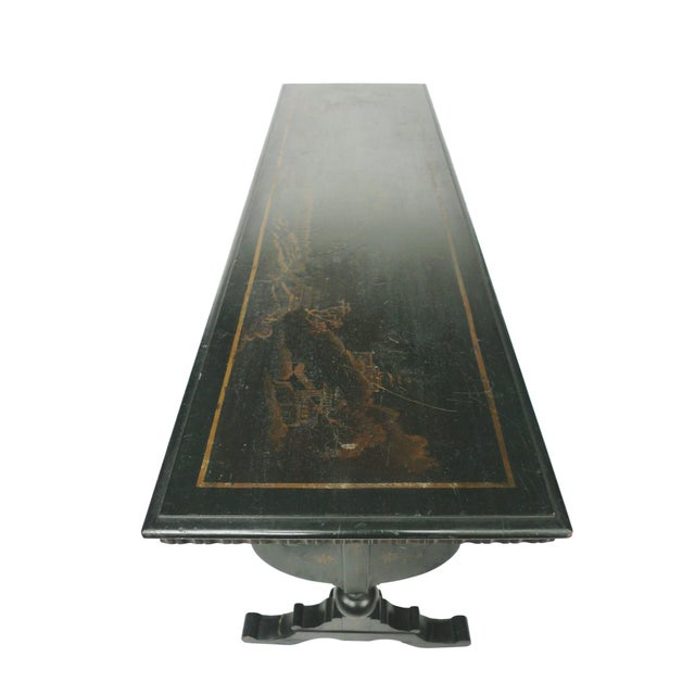 Chinoiserie Decorated Wooden Console Table - Image 5 of 10