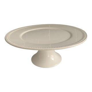 Sur La Table Pearl White Cake Stand For Sale