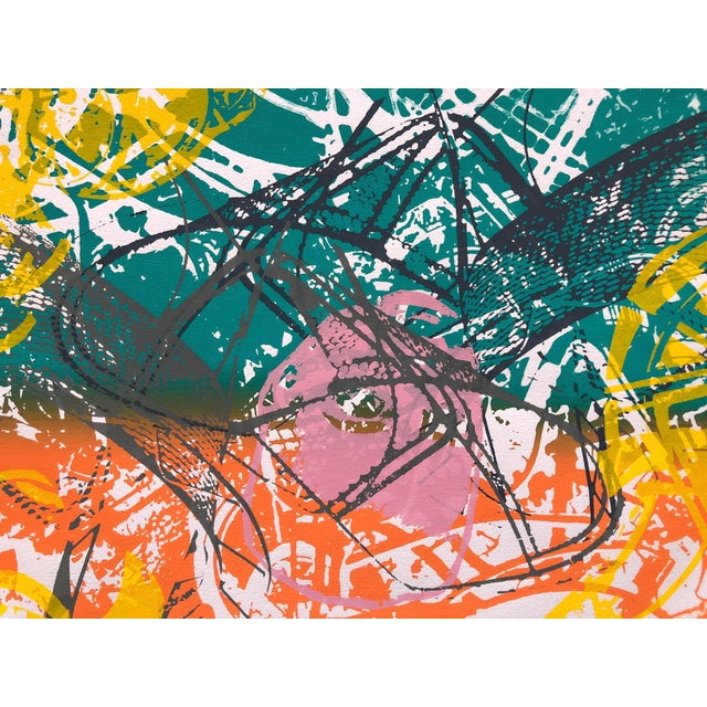 """1970s Abstract Silkscreen """"Orange Slices"""" For Sale In New York - Image 6 of 7"""