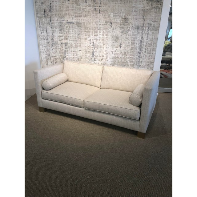 White Scalamandre Upholstered Sofa For Sale - Image 9 of 11
