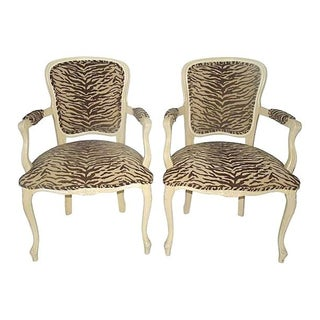 1960s French Style Tiger Fauteuils For Sale