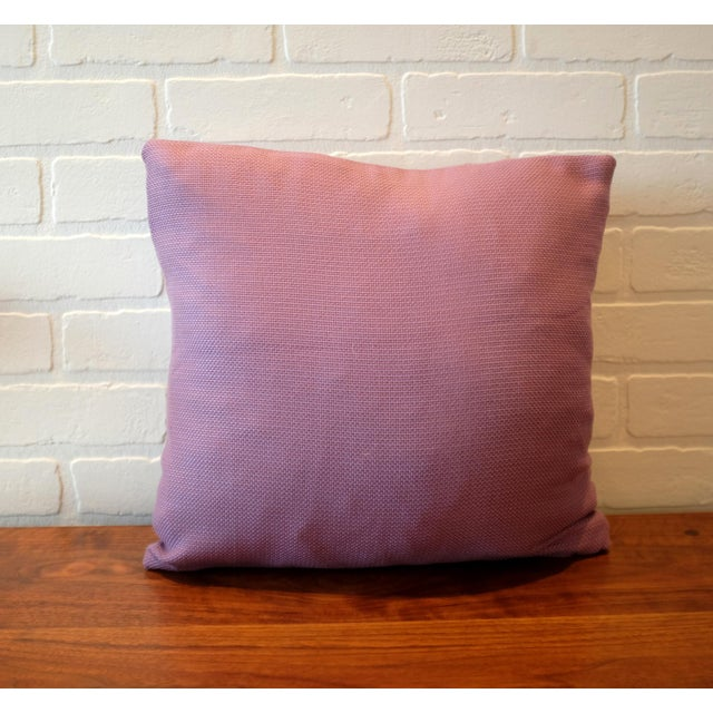 Lavender Tempotest Italian Woven Fabric Pillow Covers - Set of 3 For Sale - Image 4 of 6