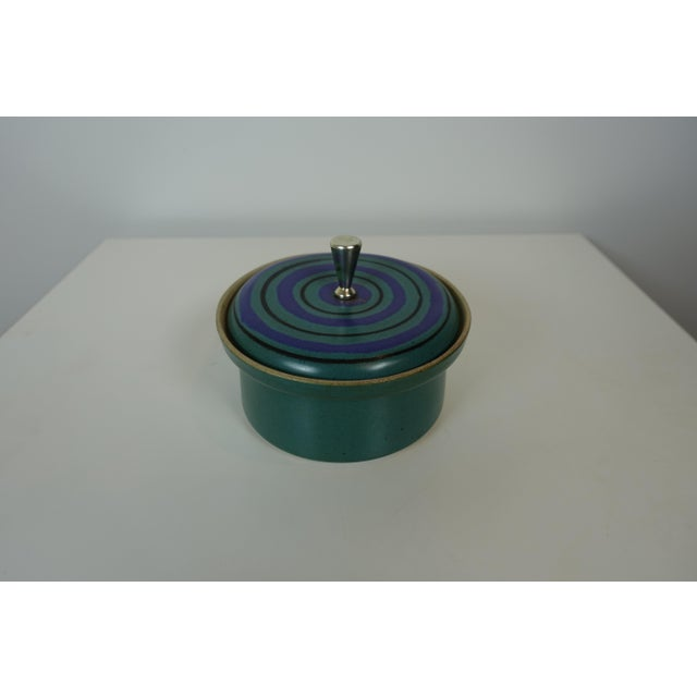 Teal Mid Century Modern David Gil Bennington Pottery Dish For Sale - Image 8 of 8